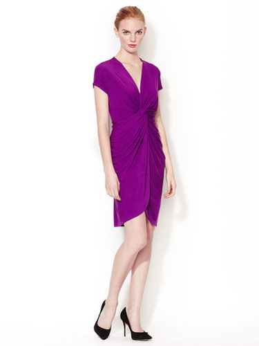 Cascading Knot Jersey Sheath Dress