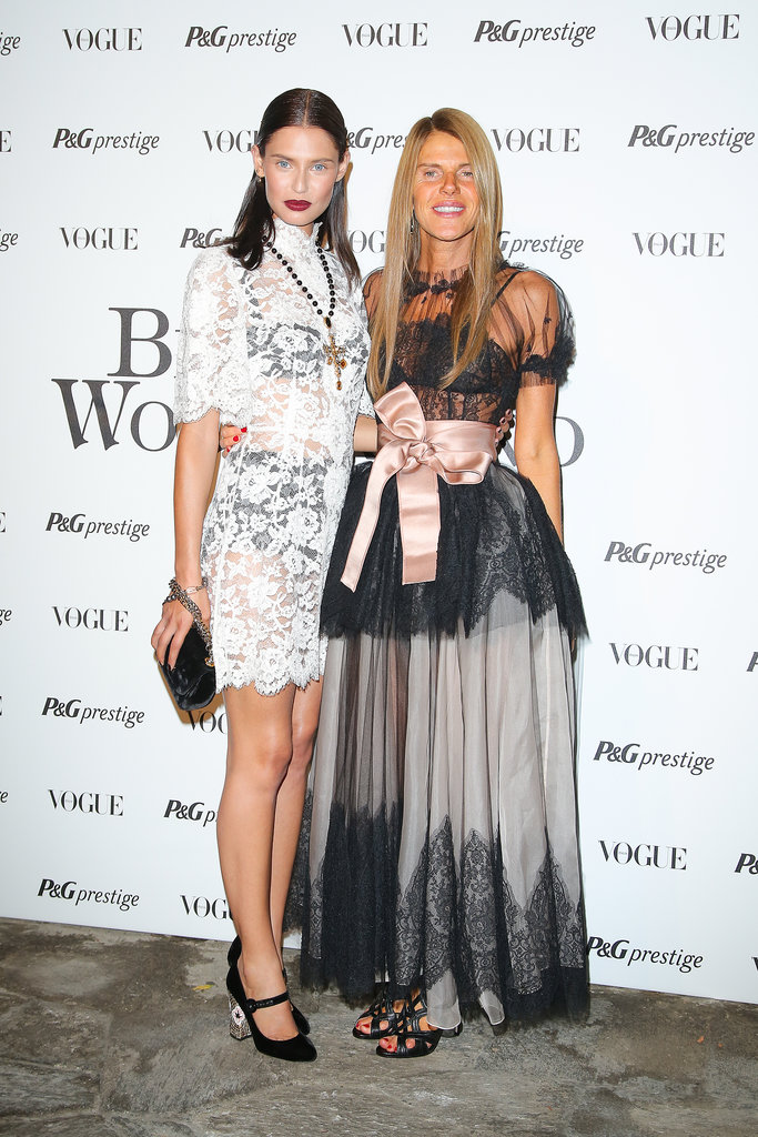 At Beauty in Wonderland, Anna Dello Russo and Bianca Balti were certainly beauties in their lacy designs.