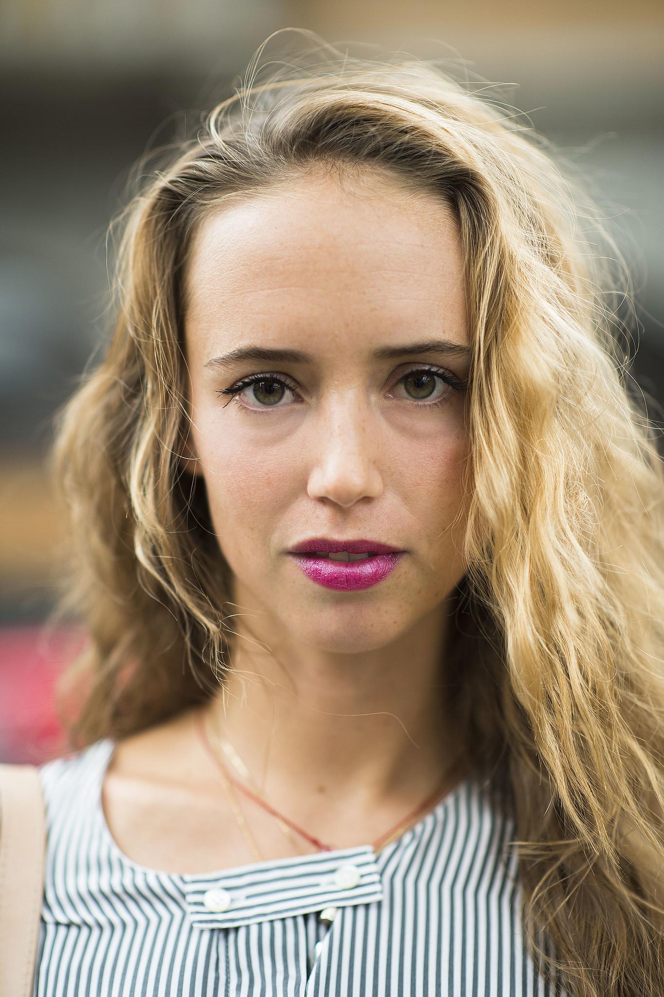 Bright magenta lipstick is always a good look. Source: Le 21ème   Adam Katz Sinding