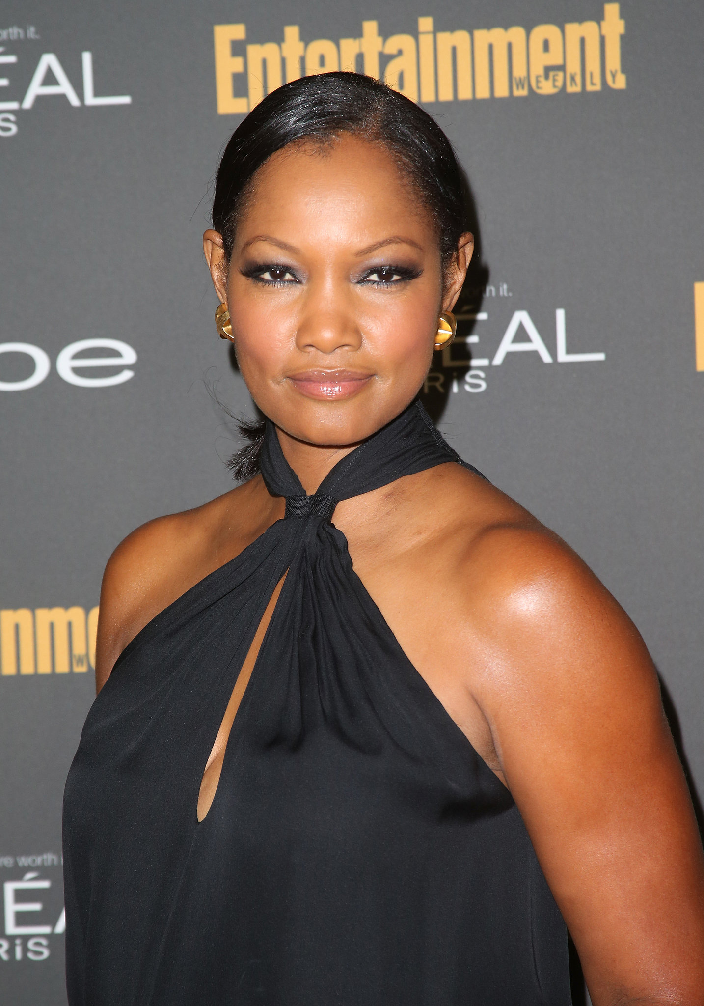 We loved Garcelle Beauvais's heavy eyeliner and side-slicked hairstyle at E