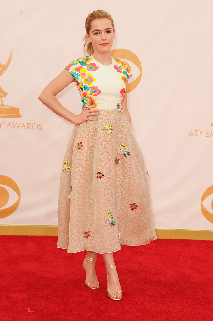 Someone who was also paying attention during last year's Fashion Week? Kiernan Shipka, who picked a tea-length Delpozo Spring 2014 dress.