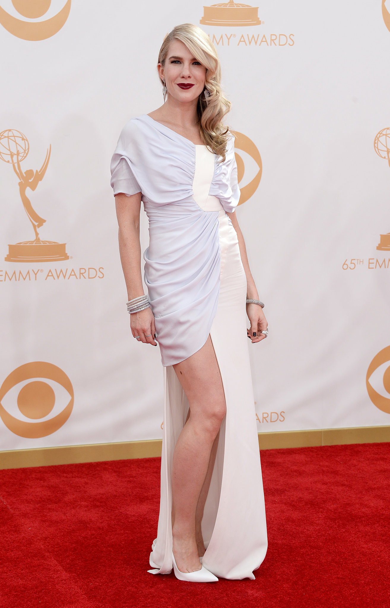 Lily Rabe showed a little leg at the Emmys.