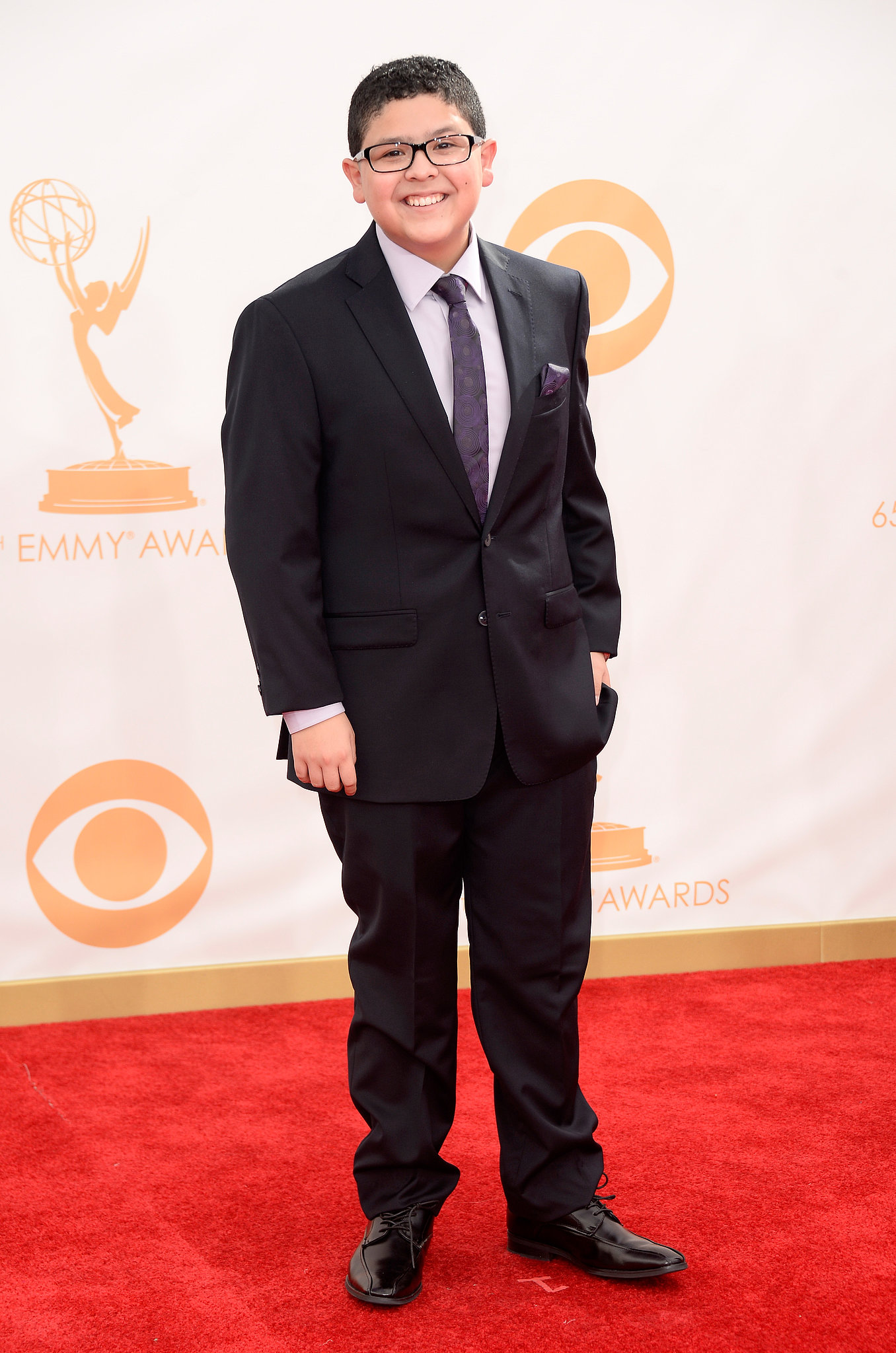 Rico Rodriguez from Modern Family attended the Emmys.