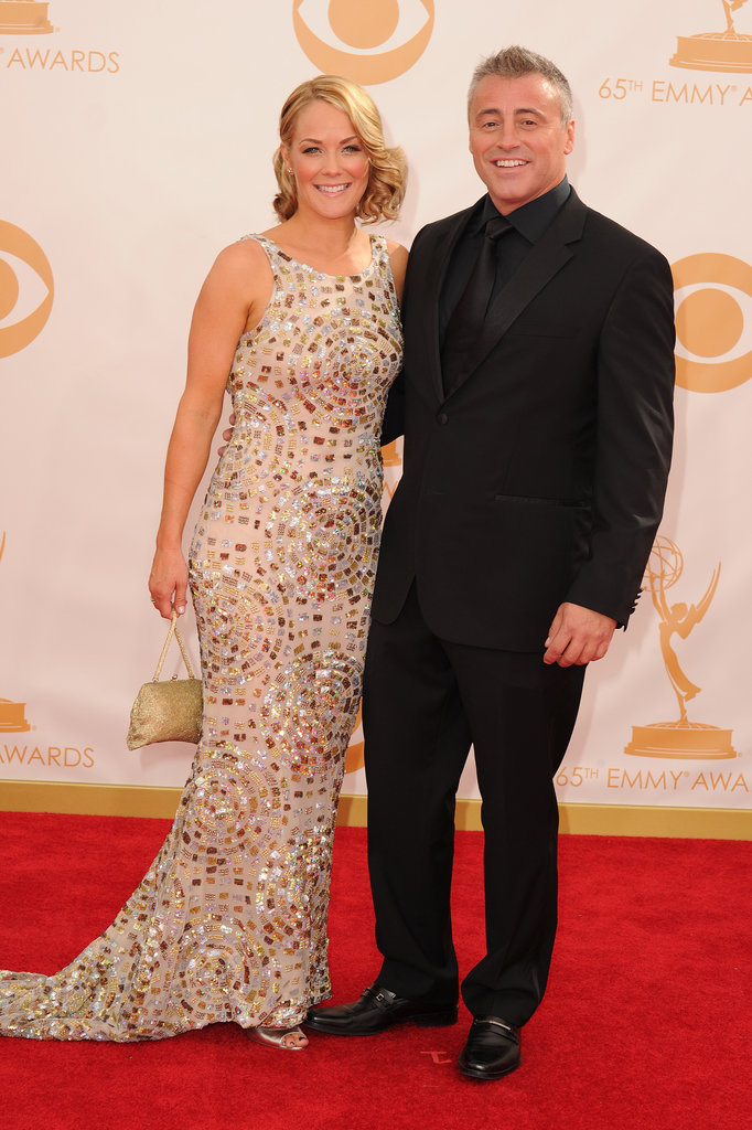 Matt LeBlanc and Andrea Anders hit the Emmys red carpet together.