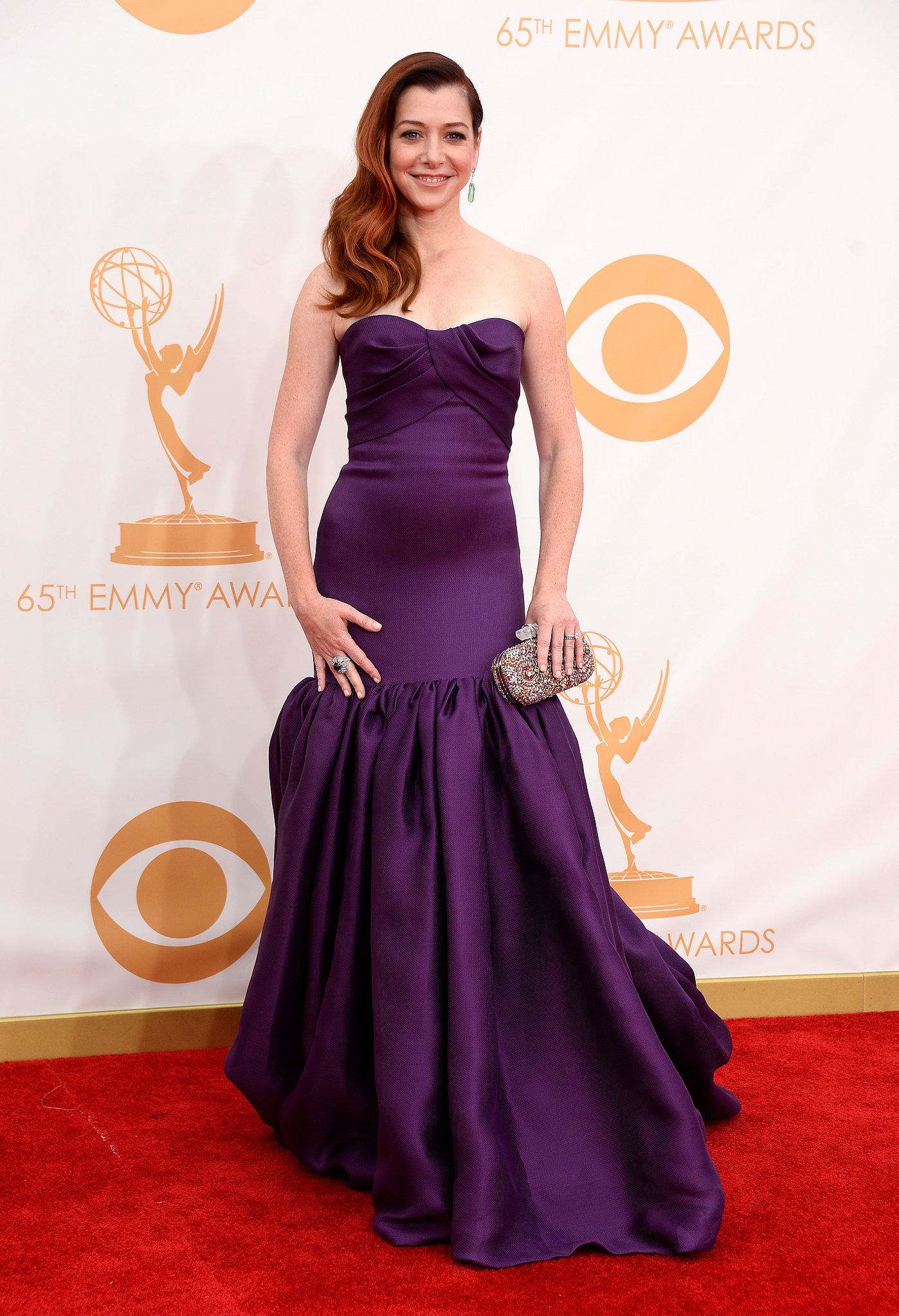 Alyson Hannigan attended the 2013 Emmy Awards.