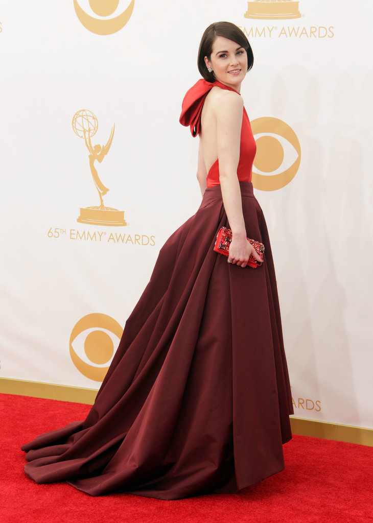 A halter neck and lots of volume made Michelle Dockery's Prada gown a winner in our eyes. The label also can take credit for her bag and shoes, while Fred Leighton provided the glitz.