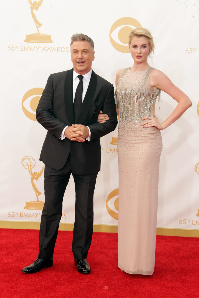 Alec Baldwin and his daughter Ireland Baldwin walked the Emmys red carpet together.