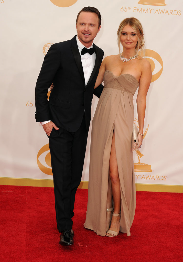 Aaron Paul walked the red carpet with his wife, Lauren.