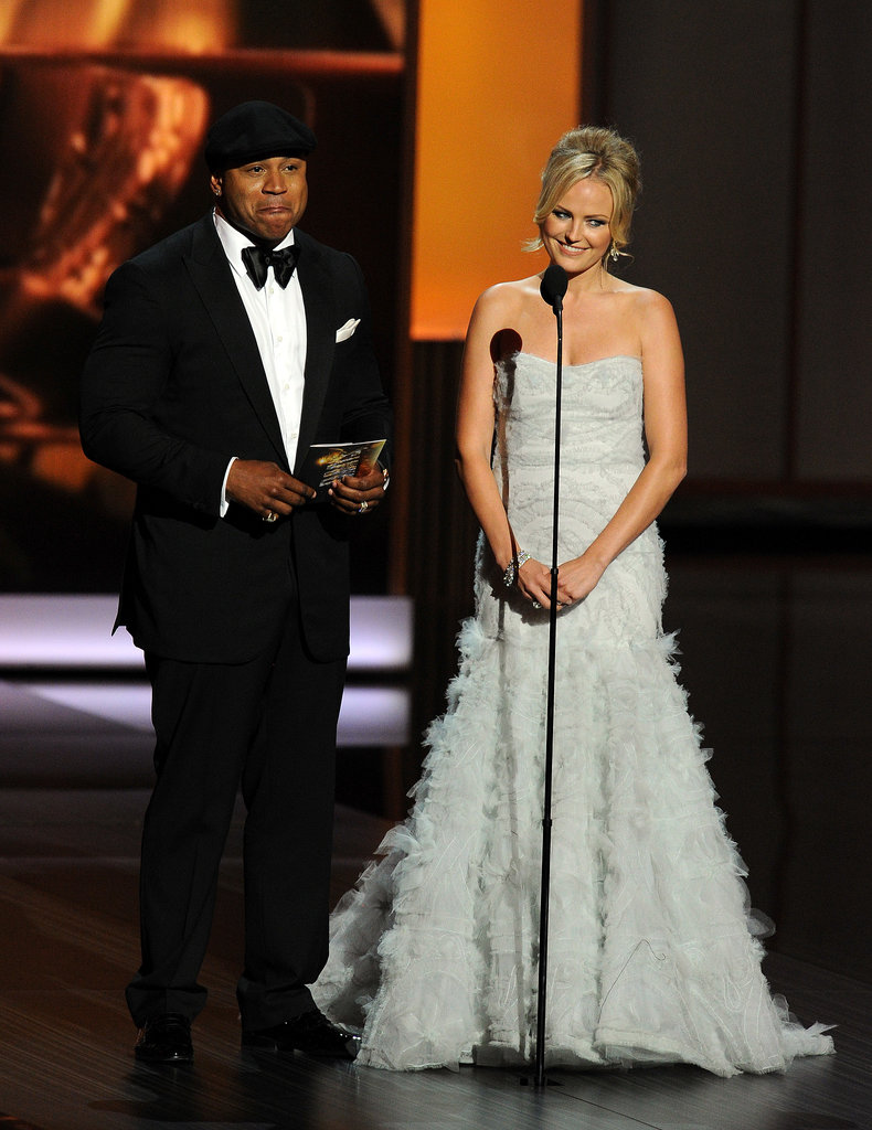 Malin Akerman presented an award with LL Cool J.