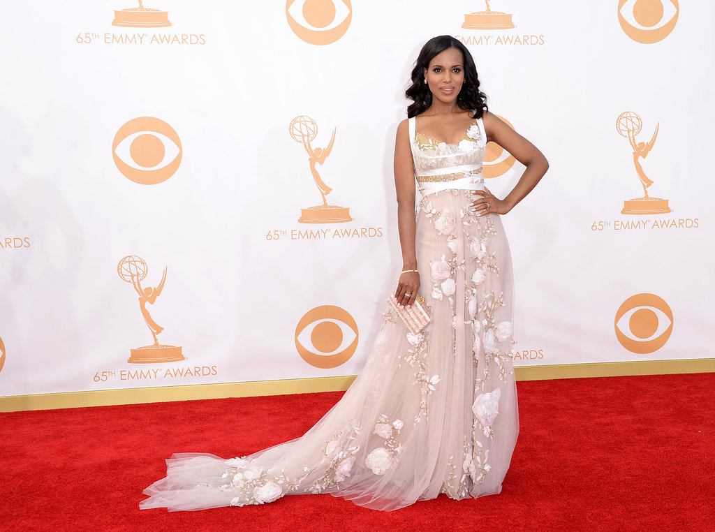 Kerry Washington looked stunning on the Emmys red carpet.