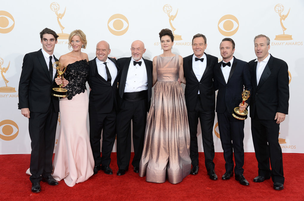 The cast continued celebrating in the press room.