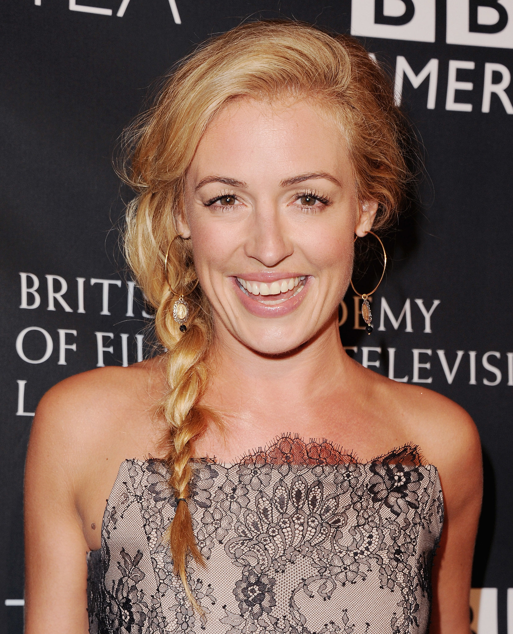 Cat Deeley kept it casual with a simple side braid at the BAFTA LA TV Tea