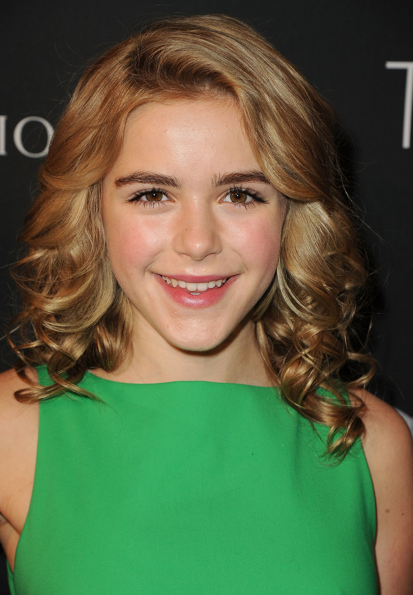 For her appearance at the BAFTA LA TV Tea, Kiernan Shipka wore a head full of curls and rosy makeup tones.