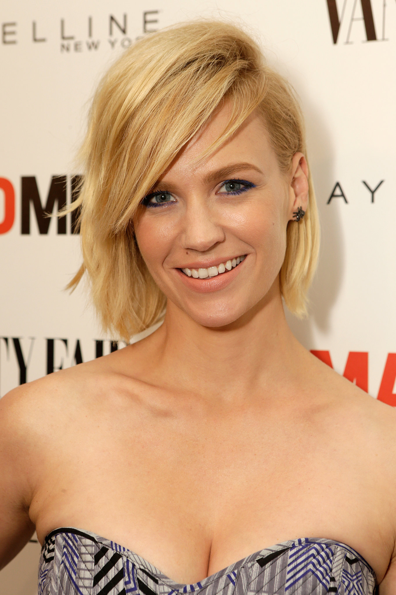 At the Vanity Fair and Maybelline toast to Mad Men, January Jones went for