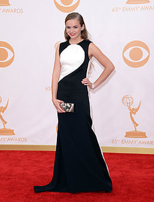 Actress-Morgan-Saylor-wore-black-white-gown-Emmys