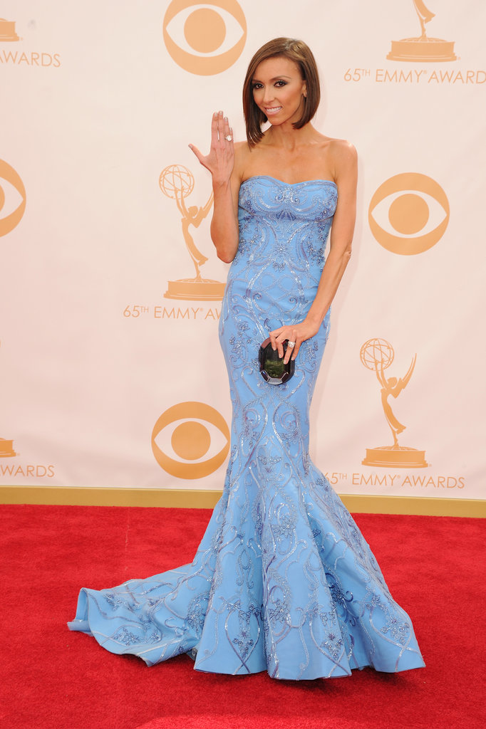 Giuliana Rancic on the red carpet at the 2013 Emmy Awards.