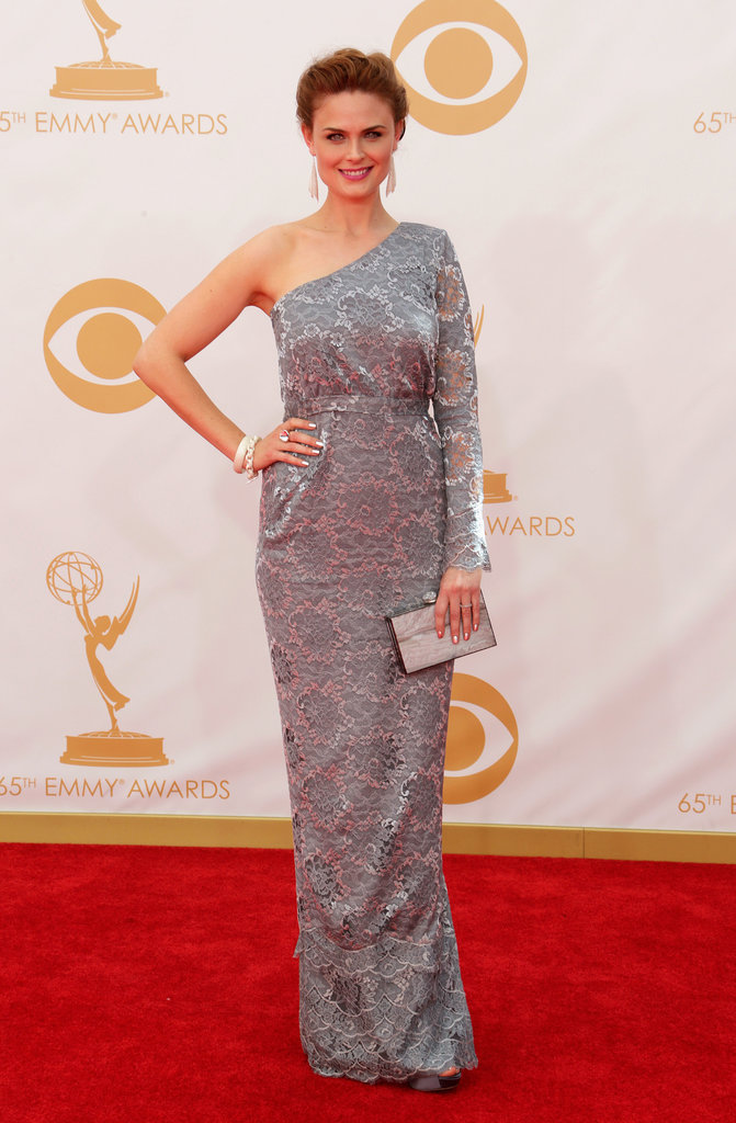 Emily Deschanel's custom lace Houghton gown was vegan!