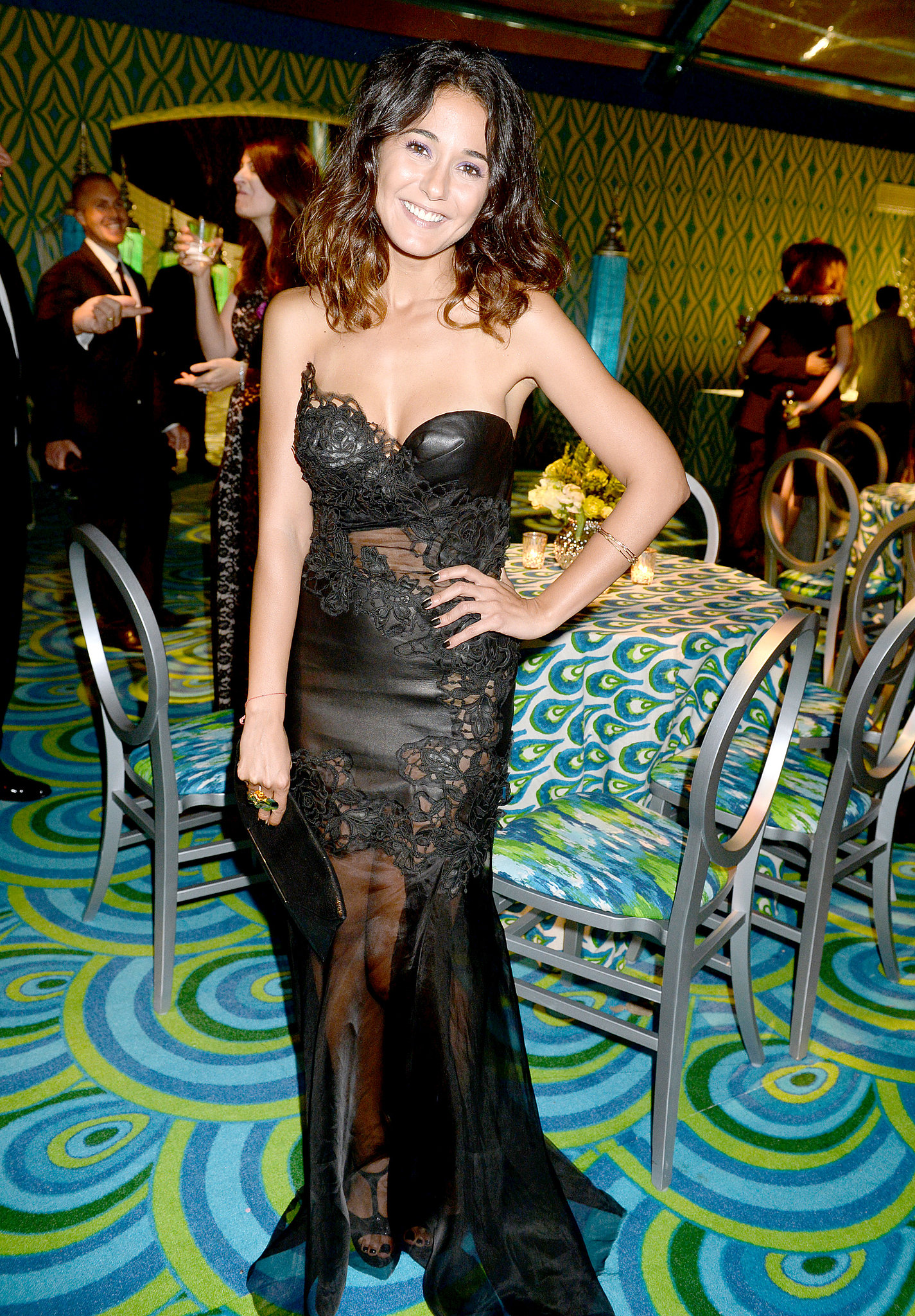 Emmanuelle Chriqui attended the 2013 HBO Emmys afterparty.