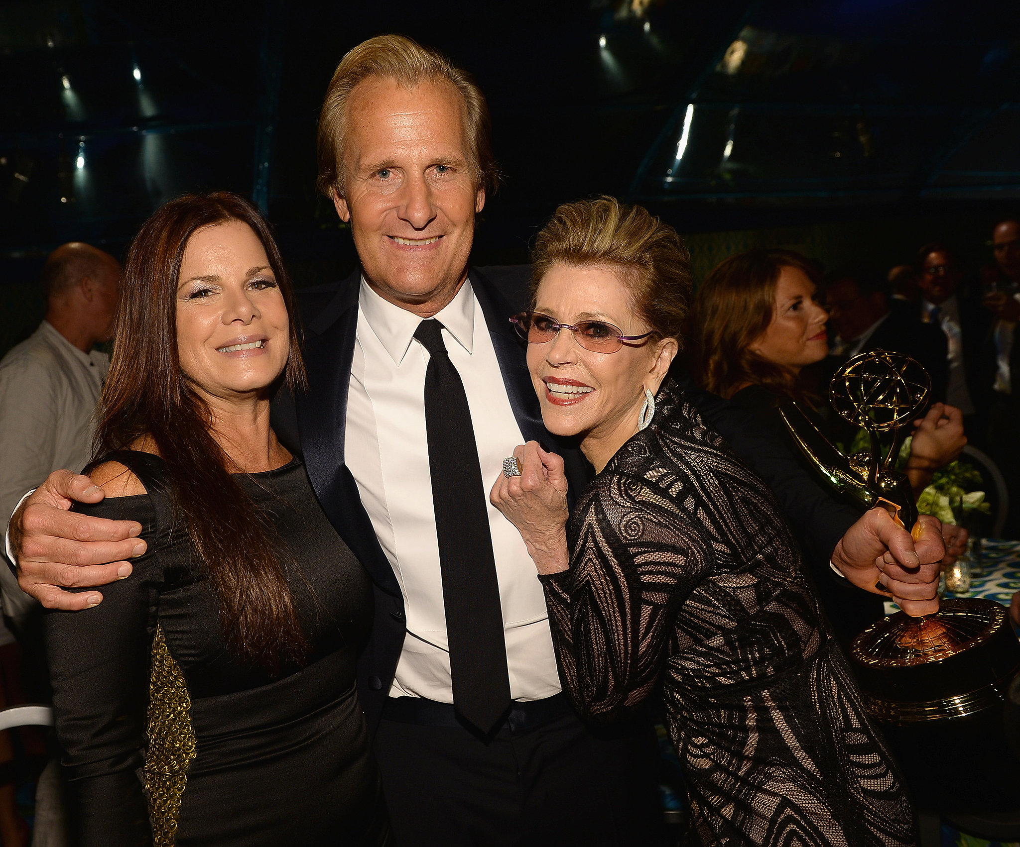 Marcia Gay Harden, Jeff Daniels, and Jane Fonda had fun at the HBO afterparty.