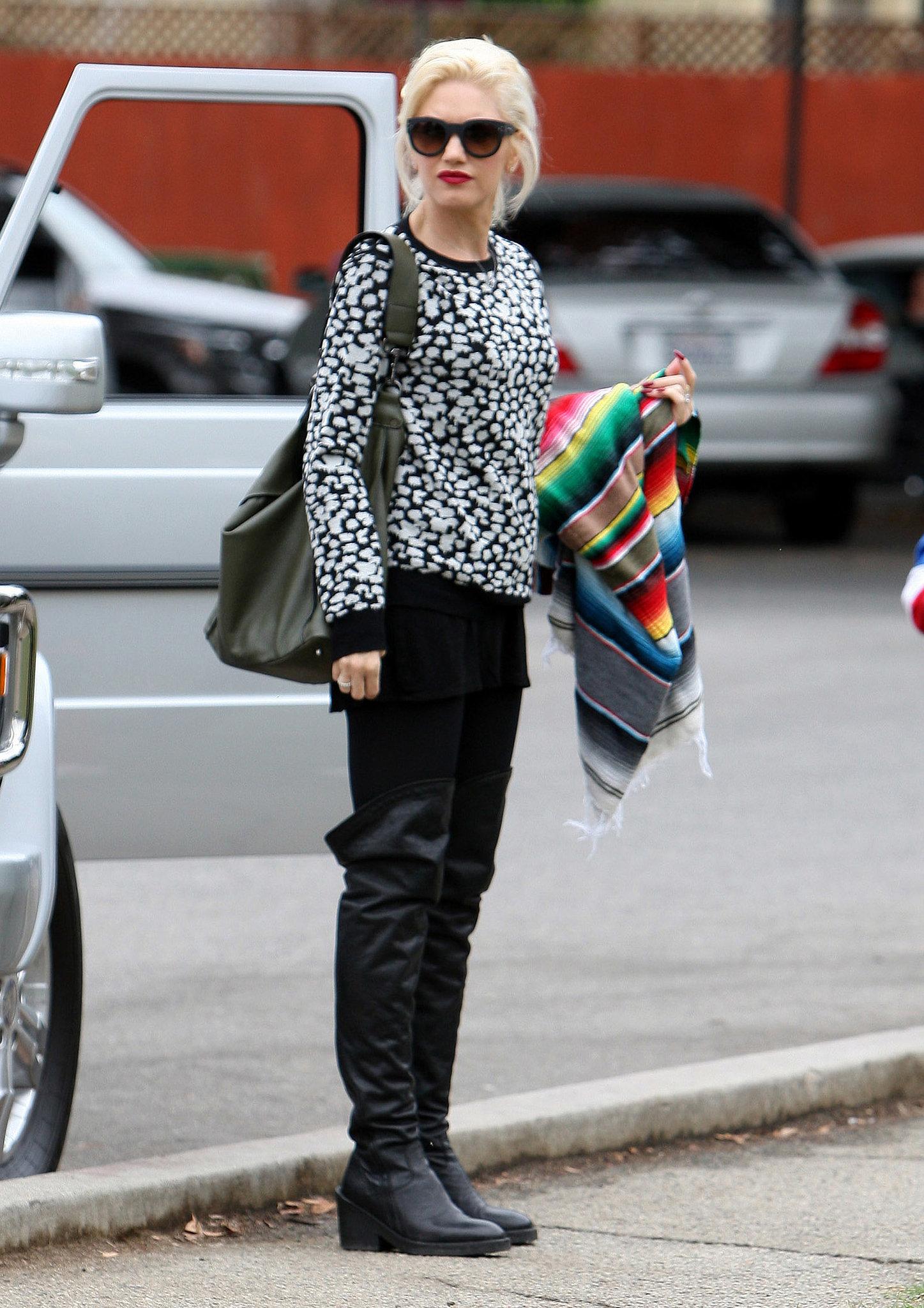 Gwen Stefani watched her son Kingston Rossdale's soccer game in LA.