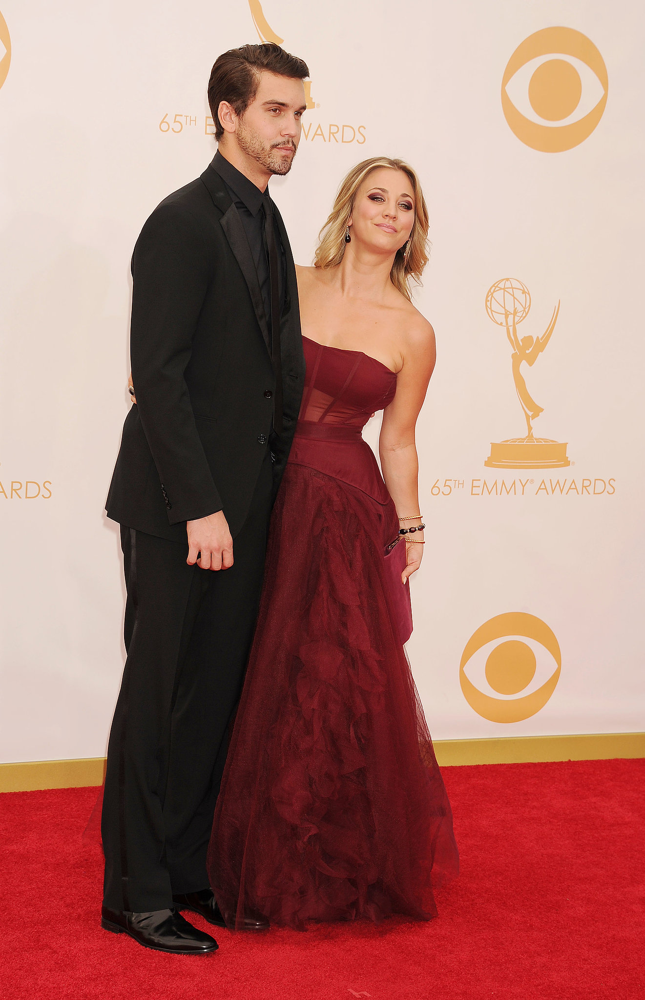 Kaley Cuoco and boyfriend Ryan Sweeting made a cute couple on the carpet.