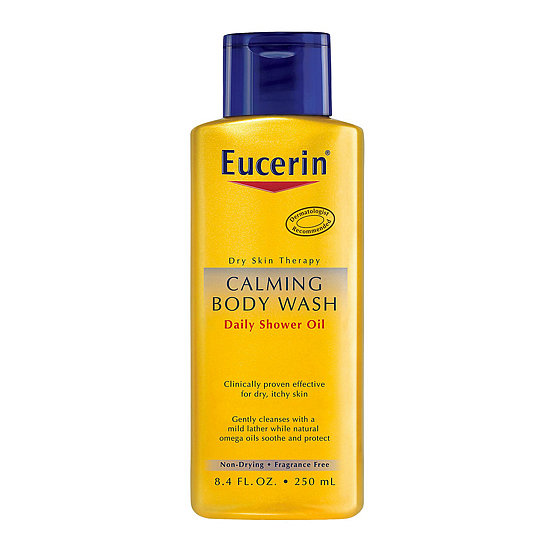 If regular soap or body wash is too drying in the colder months, try switching it out for the Eucerin Calming Body Wash Daily Shower Oil ($8). This gentle cleanser nourishes skin and keeps it hydrated while rinsing clean.