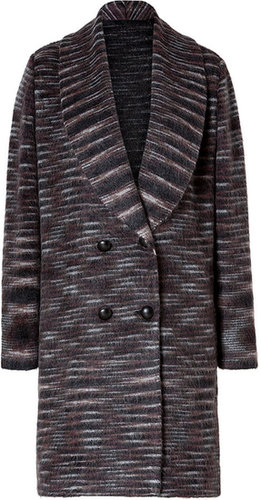 Missoni Mohair-Wool Blend Double Breasted Cardigan Coat