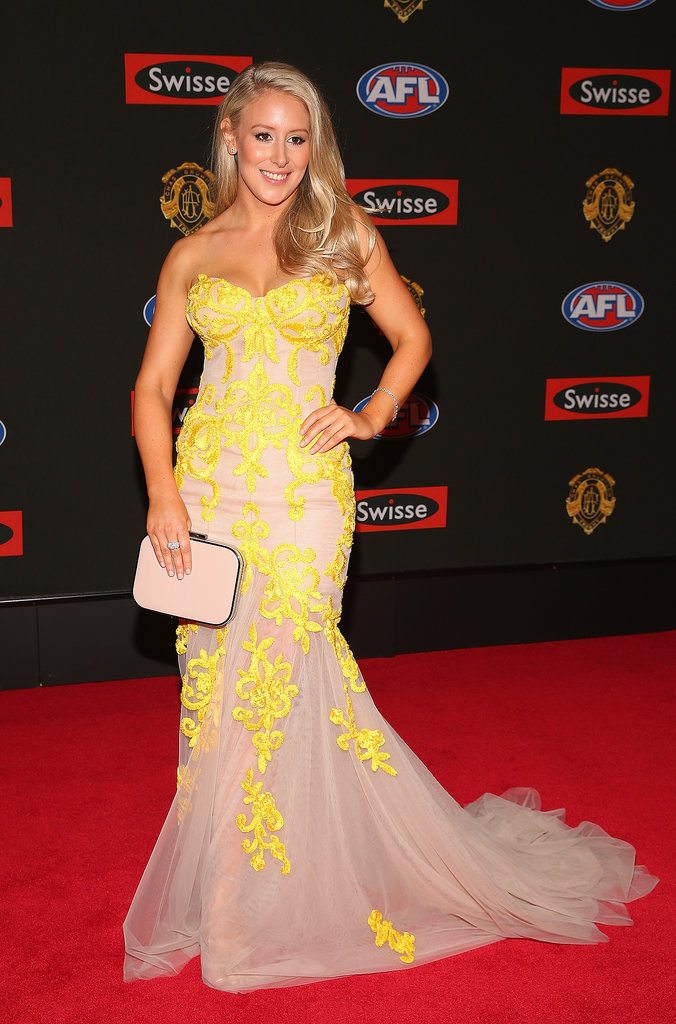 Ella Keddie the partner of Jobe Watson of the Bombers.