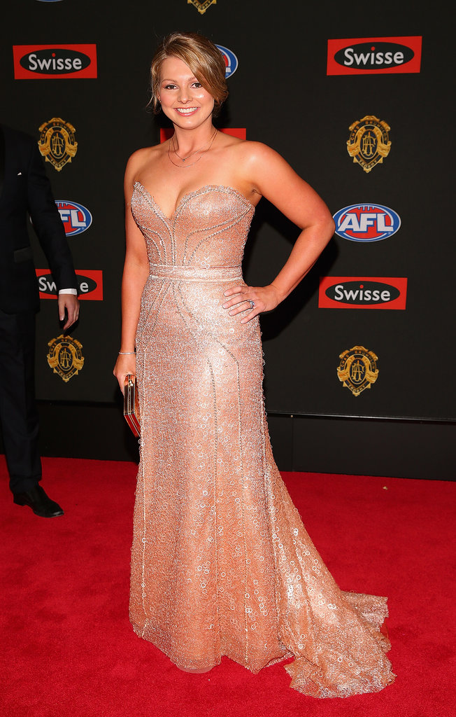 Lauren Hodge the wife of Luke Hodge of the Hawks.