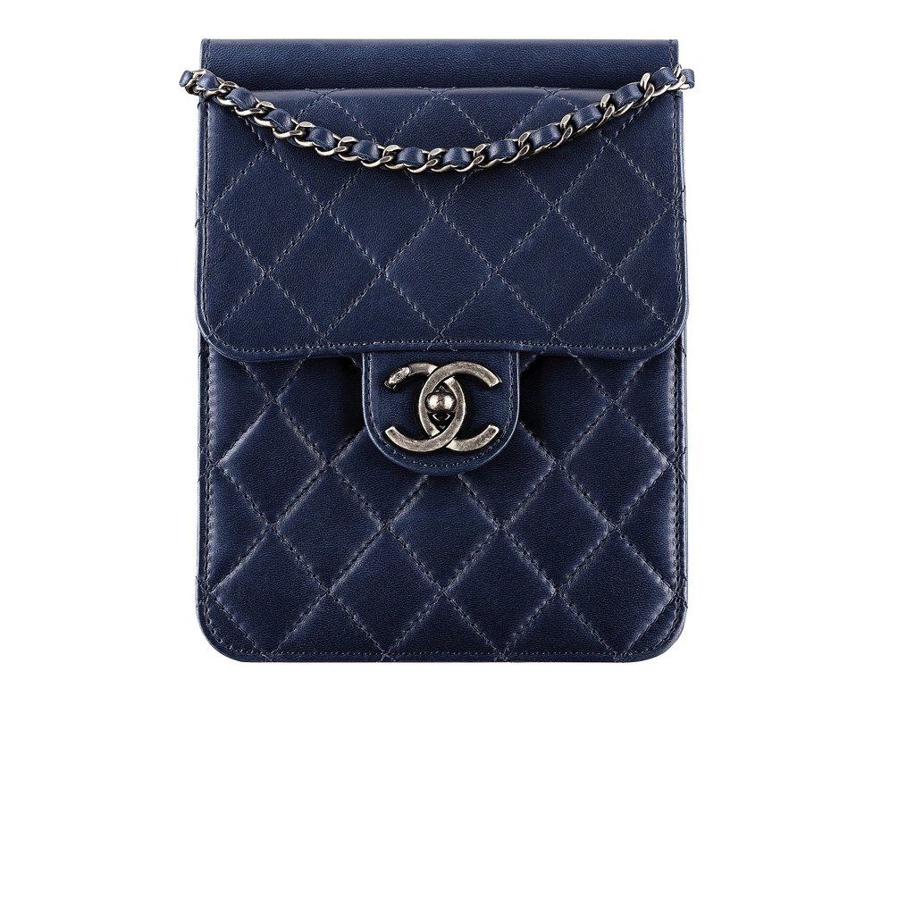 Chanel Navy Blue Quilted Leather Small Bag With a CC Lock Photo courtesy of Chanel