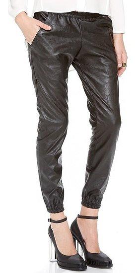 Heidi merrick Faux Leather Sweatpants