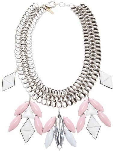 Silvia Gnecchi woven chain necklace