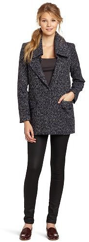 BCBGeneration Women's Large Collar Coat