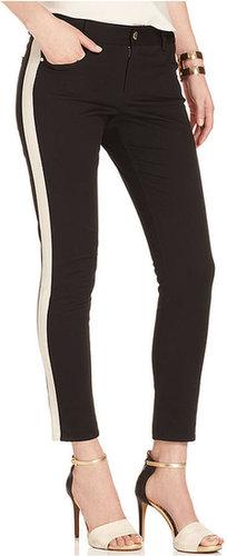 DKNYC Pants, Skinny Twill Side-Stripe