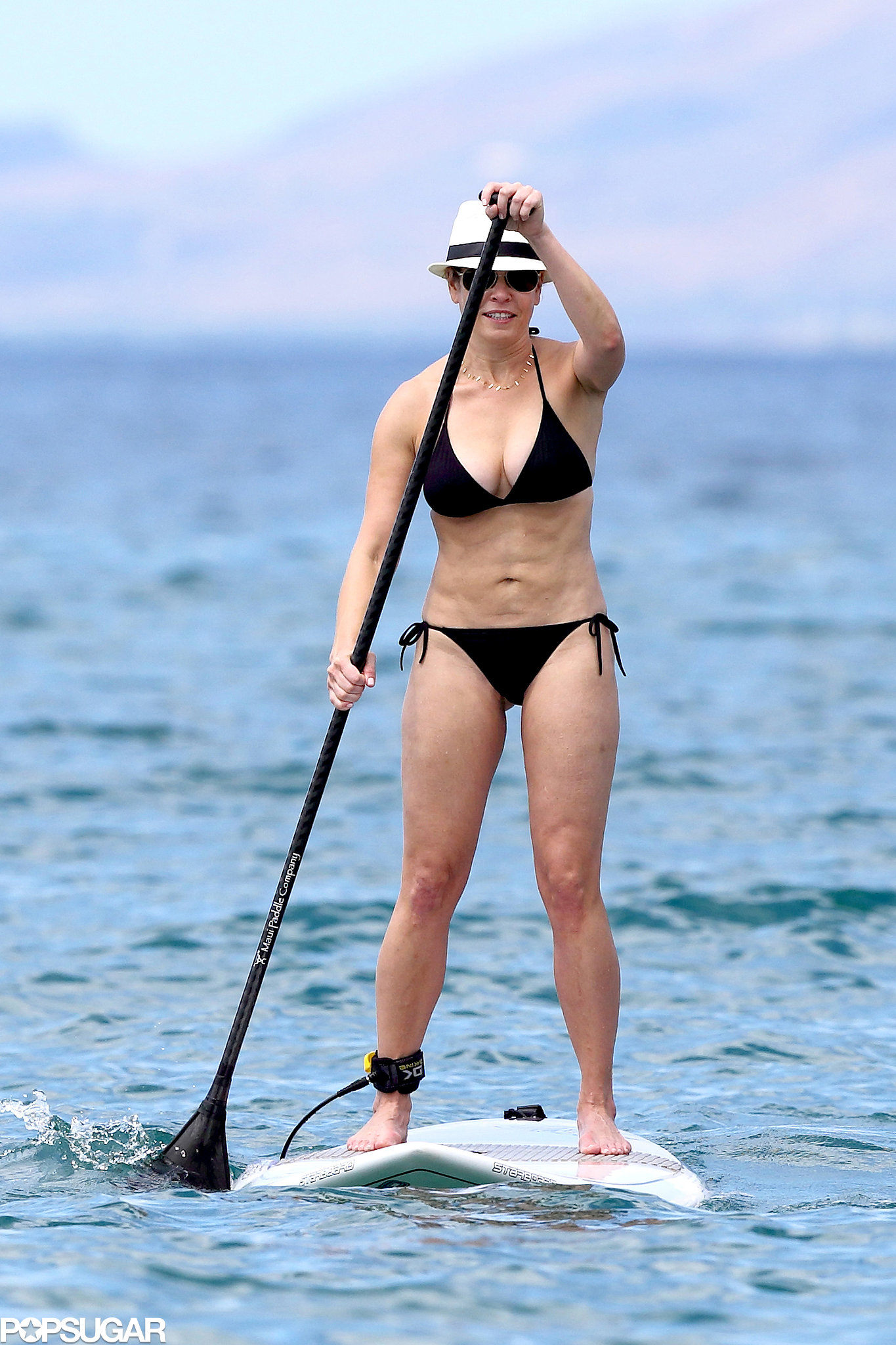 Chelsea Handler enjoyed some paddleboarding while in Hawaii.