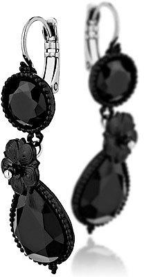 Satellite Bijoux Dormeuses pendantes Montmartre noires