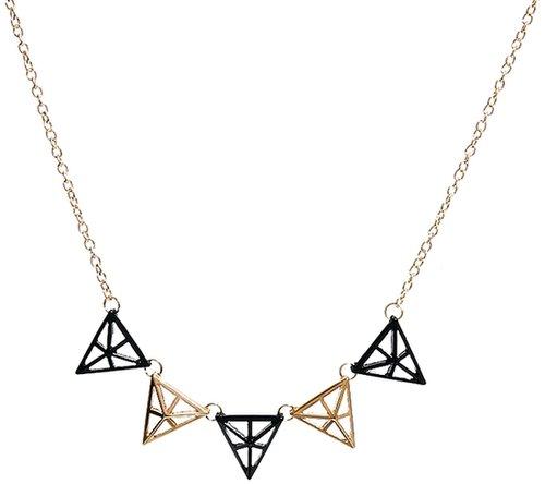 Ashiana - Collier avec pendentifs triangles effet 3D