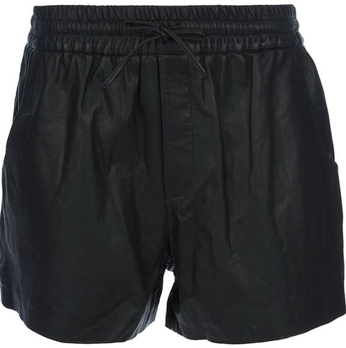 Helmut Lang faux-leather shorts