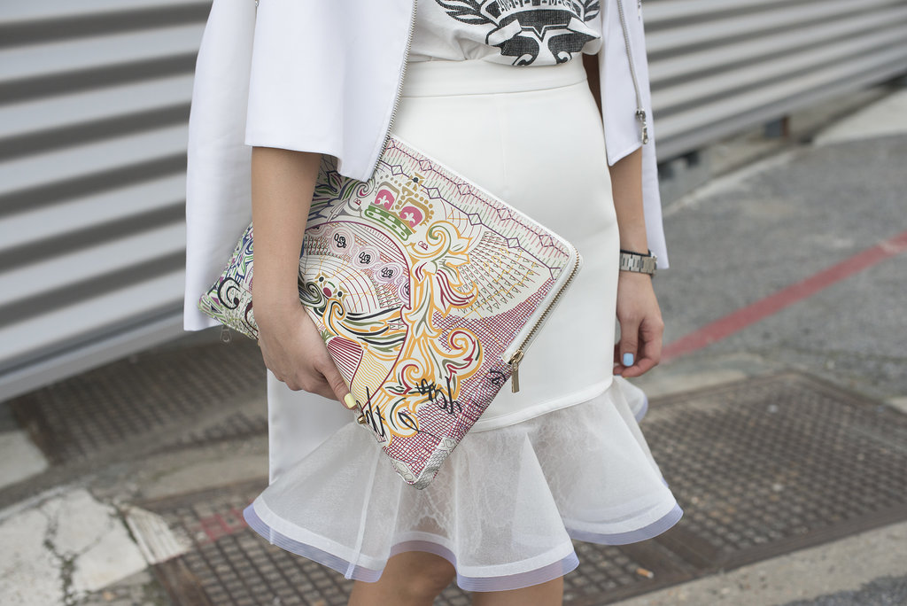 A clutch that doubles as a work of art.