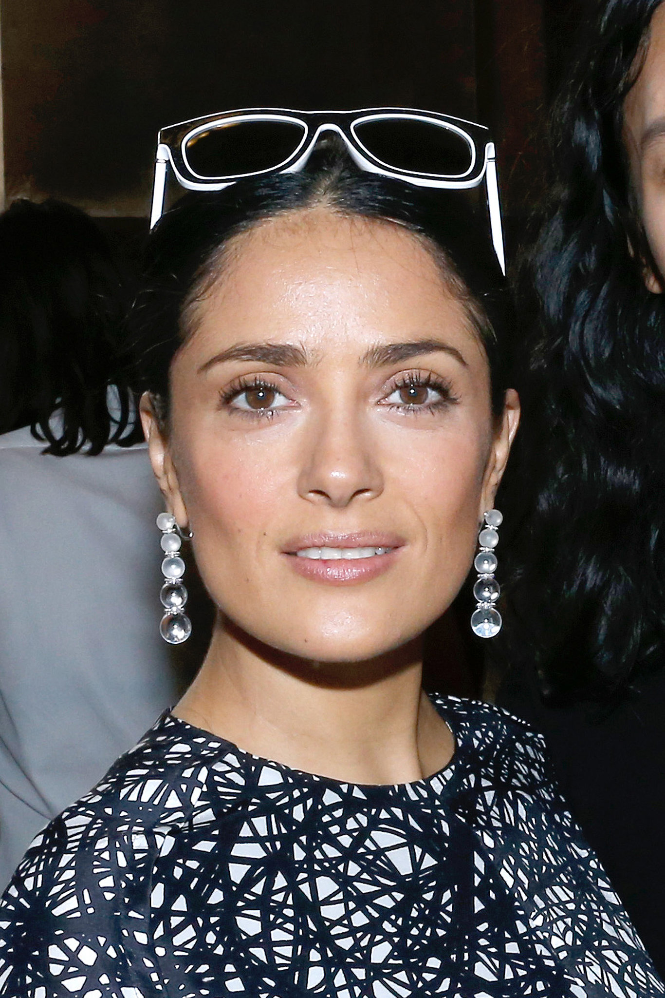Salma Hayek at Balenciaga Spring 2014.