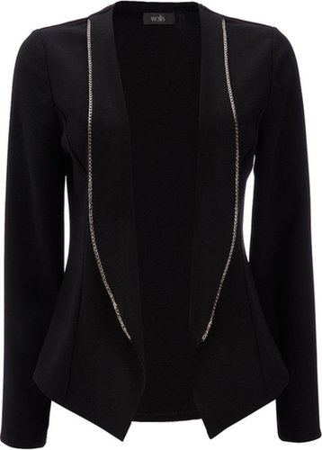Black Chain Detail Blazer