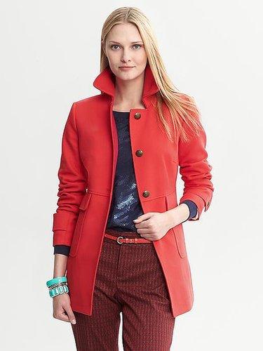 Textured Red Coat