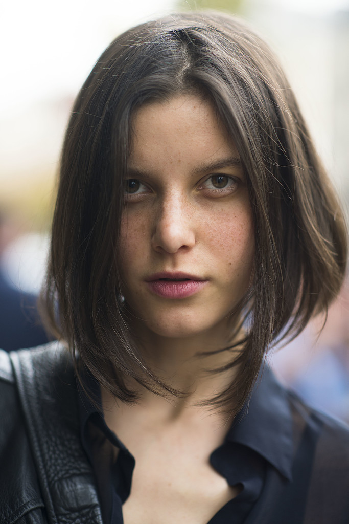 The shape of this woman's angled bob is a great option for someone looking to add some attitude to their cut. Source: Le 21ème   Adam Katz Sinding