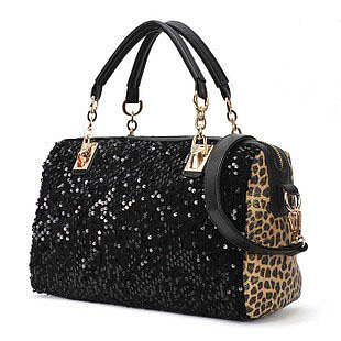 Image of Leopard Sparking Handbag