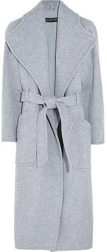 Theyskens' Theory Manteau en laine mélangée à ceinture