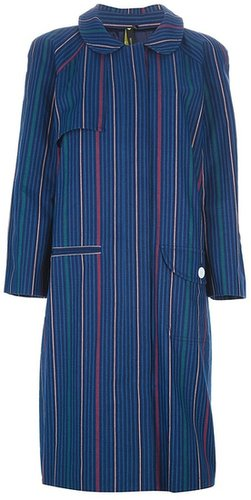 Labour Of Love striped oversize trench coat