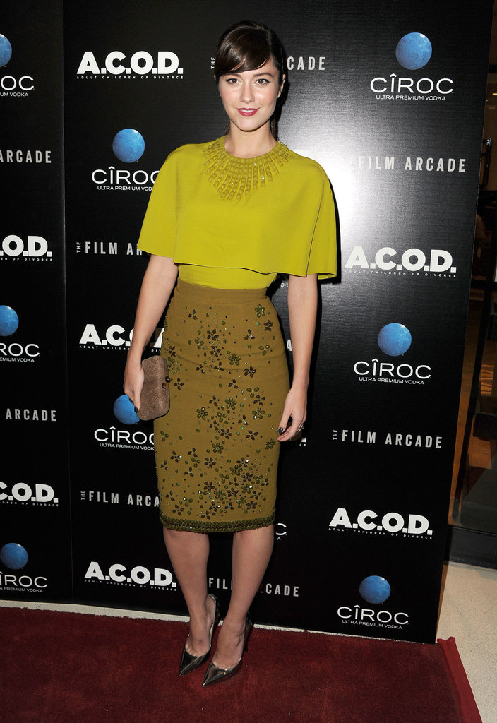 Mary Elizabeth Winstead wore a chartreuse number.