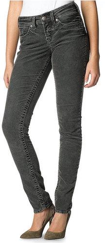 Macy's Silver Jeans Juniors Pants, Skinny Corduroy