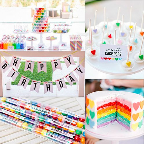 A Rainbow-Heart Party