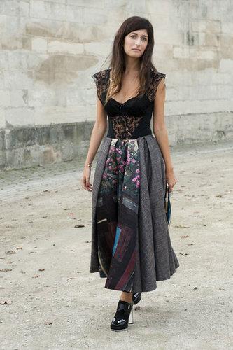 A sweet-cum-sexy mixed-media dress.